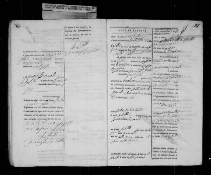 Domenico Birth Record 1